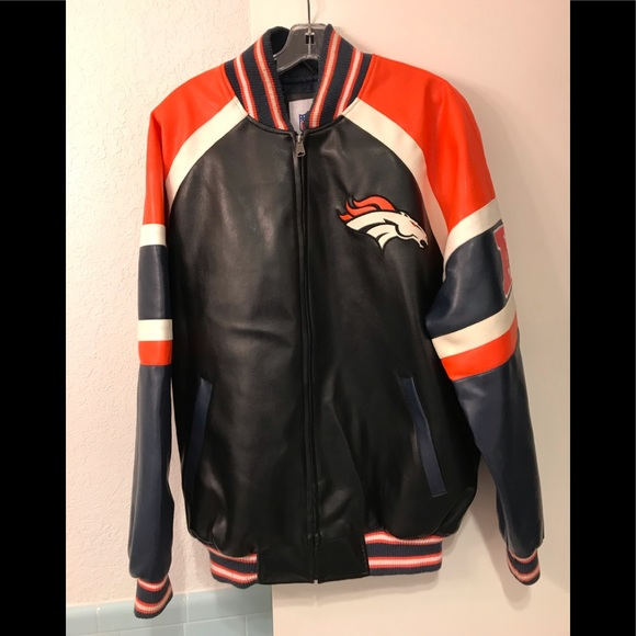 detailed look f19d5 a677a Denver Broncos Faux Leather NFL Official Jacket